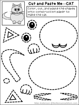 preschool cut outs free cut amp paste activities for preschool and early 225
