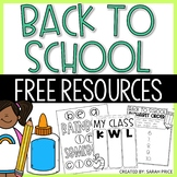 FREE Back to School Activities and Worksheets