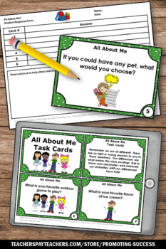 FREE Back to School All About Me Activities for Beginning of the Year