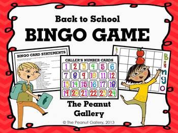 FREE- Back to School BINGO Game