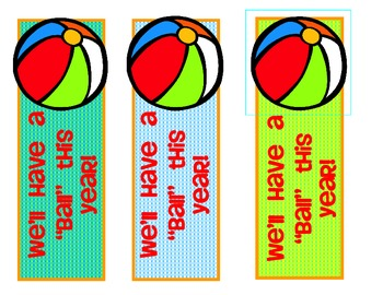 {FREE} Back to School - Beach Themed BOOKMARKS