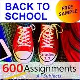 "FREE - Back to School Bundle | Reading & Life Skills ""Job Application"" (Gr. 3-7)"