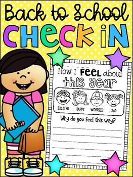 FREE Back to School Check In Worksheet