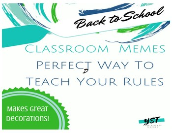 FREE! Back to School Classroom Rules Memes