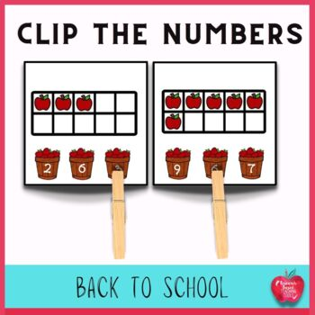 FREE: Back to School Clip the Number Task Cards
