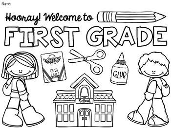 coloring pages pre grade kindergarten prek beginning classroom welcome