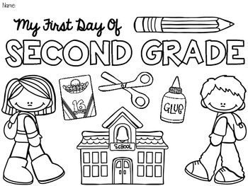 first day coloring pages for second grade | My 6 *NEW* Favorite B2S Freebies! - The Sassy Apple