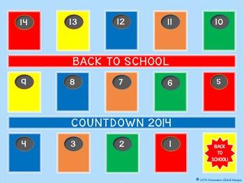 FREE Back to School Countdown Calendar