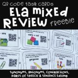 FREE QR Code Task Cards: ELA Mixed Review