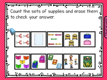 FREE Back to School Fall August September SmartBoard Math Problem of the Day