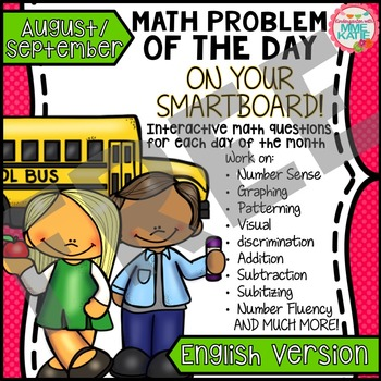 FREE Back to School Fall August September SmartBoard Math