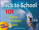 """FREE - Back to School - First Week of School   """"Welcome Sign"""" (K-8)"""