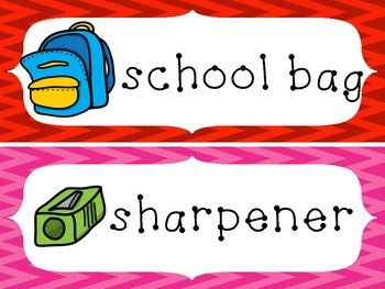 FREE Back to School Flashcards