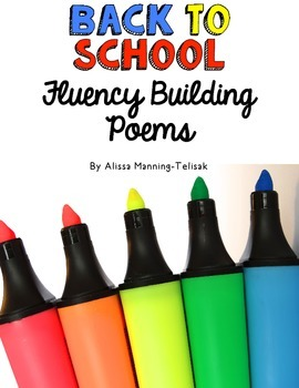 FREE Back to School Fluency Building Poems (for Poetry Notebooks)
