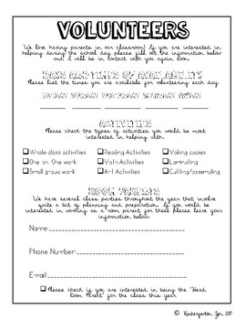 FREE Back to School Forms
