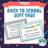 FREE Back to School Gift Tags for Music