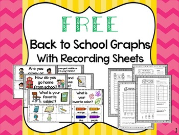FREE Back to School Graph Questions with Recording Sheets