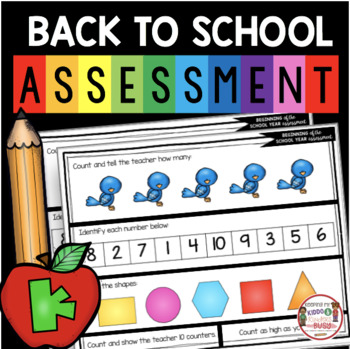 FREE Back to School Kindergarten Assessment - Beginning of the Year Test