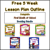 FREE Back to School Lesson Plan Outline