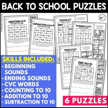 FREE Back to School Mystery Puzzles