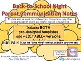 Back-to-School Night Parent Communication Notes (Popcorn-themed!) FREEBIE