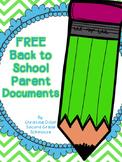 FREE Back to School Parent Survey