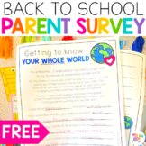 FREE Back to School Parent Survey