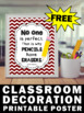 FREE Back to School Classroom Poster, No One Is Perfect Motivational Quote