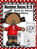FREE Back to School Printable - Number Sense 0-5 (Kindergarten)