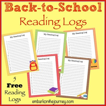 FREE Back-to-School Reading Logs