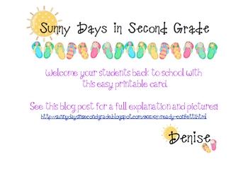 FREE Back to School Ready Confetti Card