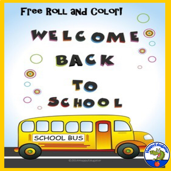 FREE Back to School - Roll and Color School Bus