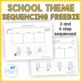 FREE Back to School Sequencing Cut and Glue Worksheets