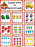 FREE Back to School Spanish Number Match
