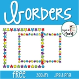 FREE! Back to School Starry Frame Borders Square and Rectangular