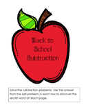 FREE Back-to-School Subtraction Basic Facts 0-20