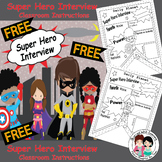 """FREE Back to School """"All About Me"""" Super Hero Interview Sheets"""
