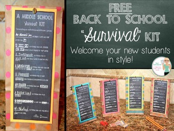 FREE Back to School Survival Kit Tags and Tutorial