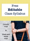 FREE Back to School Syllabus Template and Forms