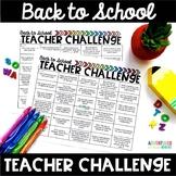 FREE Back to School Teacher Challenge