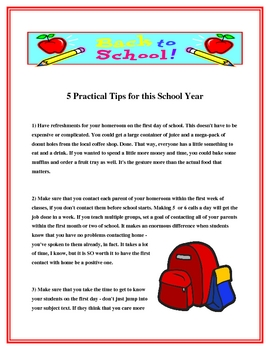 FREE Back to School Tips