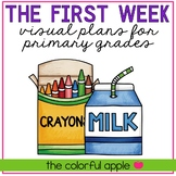 FREE Back to School Visual Plans for Primary Grades