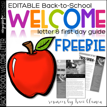 FREE - Back to School WELCOME Letter - Parent Communication