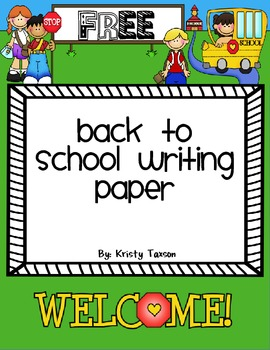 FREE Back-to-School Writing Paper