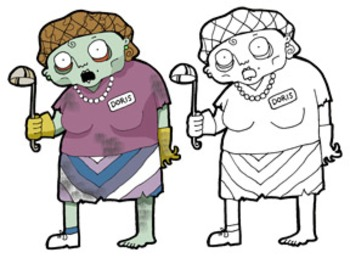 FREE Back-to-School Zombie Clip Art