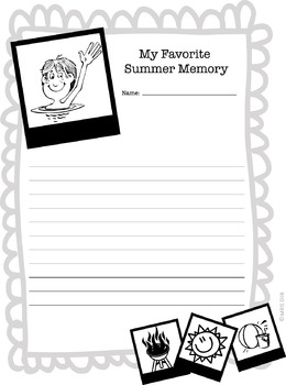 FREE - Back to School/My Summer Memory