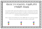 FREE Back to school jumbling tower game