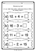 {FREE} Balancing Number Sentences - Math poster and worksh