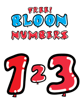 FREE Balloon-Themed Numbers