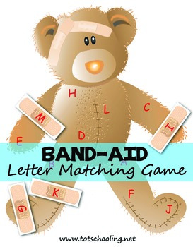 FREE Band-Aid Letter Matching Game